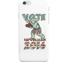 Vote Republican 2016 Elephant Boxer Isolated Etching iPhone Case/Skin