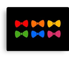 Rainbow Bows Pattern Canvas Print