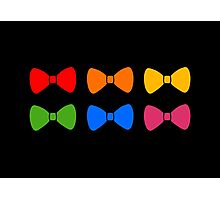 Rainbow Bows Pattern Photographic Print