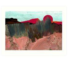 """""""Desert Sunset""""  - Arizona desert hills. Art Print"""