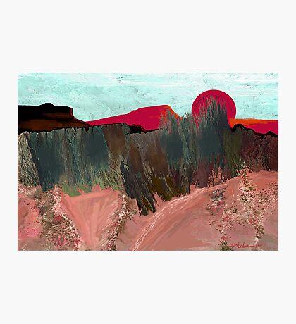 """""""Desert Sunset""""  - Arizona desert hills. Photographic Print"""