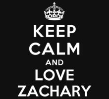 Keep Calm and Love Zachary Kids Clothes