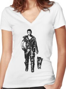The Road Warrior Women's Fitted V-Neck T-Shirt