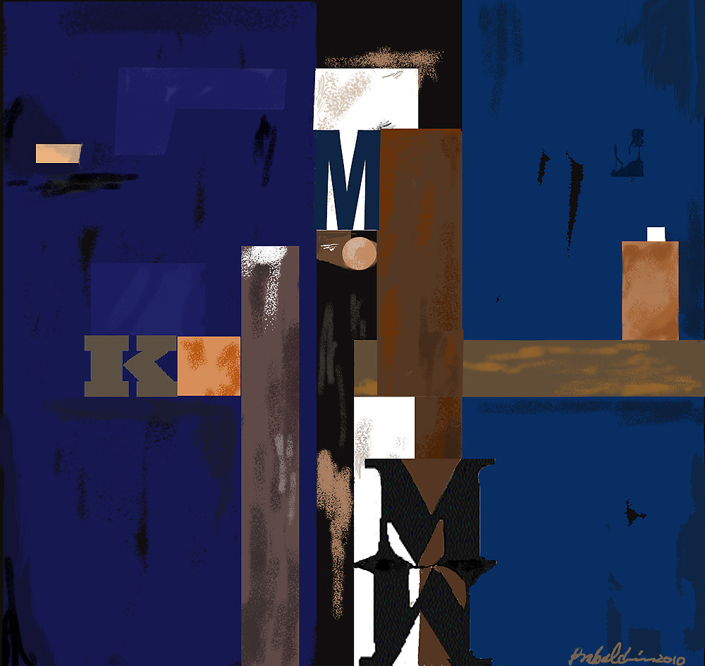 """""""Blue MK""""  - Rich blue supports the structure. by Patrice Baldwin"""