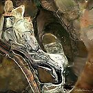 """Reclining Robot"" - Silver robot resting in his cave. by Patrice Baldwin"