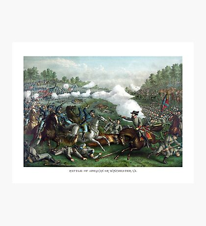 The Battle of Winchester -- Civil War  Photographic Print