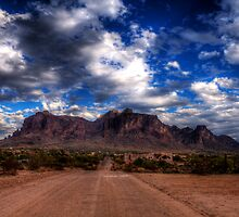 Superstition Mountains-3 by George Lenz