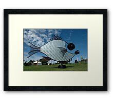 Silver Fish,Sculptures on The Edge,Australia 2015 Framed Print