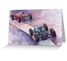 Ferrari 158 vs Brabham Climax German GP 1964 Greeting Card