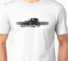 VW Golf 5 GTI Tiremark Back Unisex T-Shirt