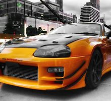 Pimped street car racer Front by benbdprod
