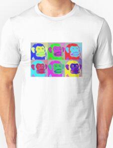Warhol Musical Jolly Chimp T-shirt Unisex T-Shirt