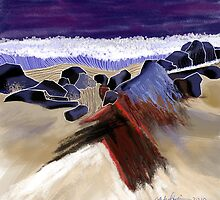 """Sandy Beach"" - Beach scene. by Patrice Baldwin"