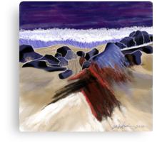 """Sandy Beach"" - Beach scene. Canvas Print"
