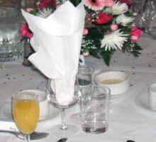 The wedding breakfast Sticker