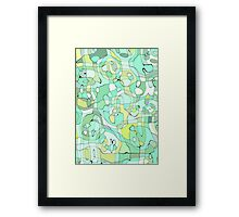 Colorful Abstract Pattern Framed Print