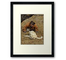 A Boy and His Best Friend Framed Print