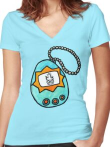 cactagotchi Women's Fitted V-Neck T-Shirt