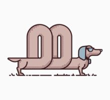 Cool Sausage Dog by fabric8