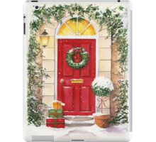 Red Door decorated for Christmas iPad Case/Skin