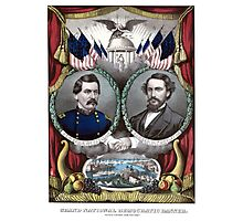 McClellan And Pendleton Campaign Poster Photographic Print
