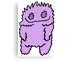 Ghouly Ghost Purp Canvas Print