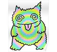 Mister Trippy Cat Poster