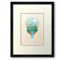 Our Island in the Sky Framed Print
