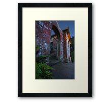 In the wake of the facade Framed Print