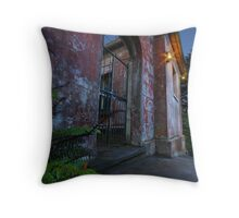 In the wake of the facade Throw Pillow