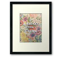 Pride & Prejudice Quote  Framed Print