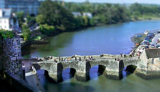 The Pont de St Goustan  -  Auray - Brittany - Tilt Shift Effect by Buckwhite