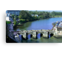 The Pont de St Goustan  -  Auray - Brittany - Tilt Shift Effect Canvas Print