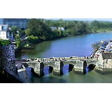 The Pont de St Goustan  -  Auray - Brittany - Tilt Shift Effect Photographic Print