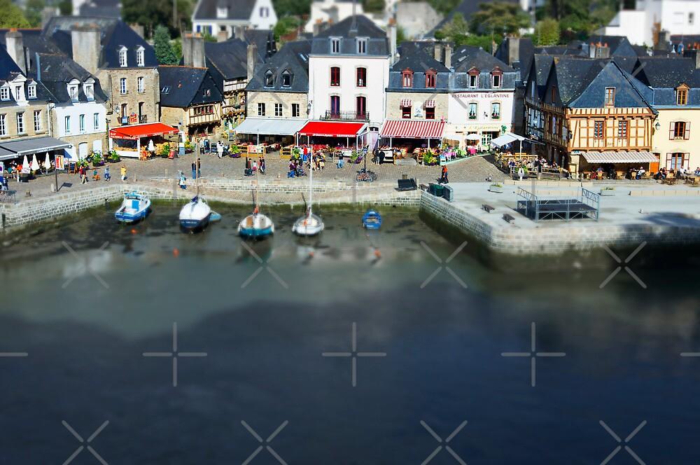 The Port of St Goustan - Auray - Brittany - France - Tilt Shift Effect by Buckwhite