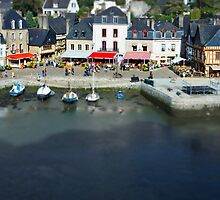 The Port of St Goustan - Auray - Brittany - France - Tilt Shift Effect by Buckwhite