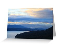Gulf Islands Winter View Greeting Card