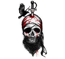Fallen Pirate Photographic Print