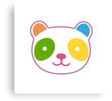 Rainbow Panda Canvas Print