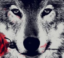 The Wolf With a Rose Sticker