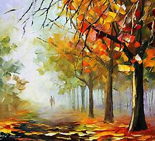 AUTUMN'S TOUCH - Original Art Oil Painting By Leonid Afremov by Leonid  Afremov