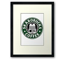 Skaro Coffee Green Framed Print