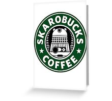 Skaro Coffee Green Greeting Card