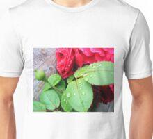 Raindrops on rose buds Unisex T-Shirt