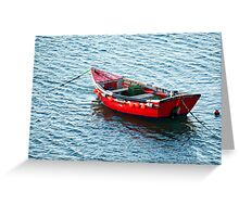 Red Fishing Boat Greeting Card