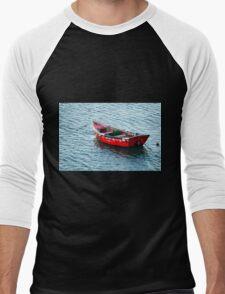Red Fishing Boat Men's Baseball ¾ T-Shirt