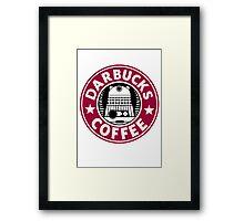 Darbucks Coffee RED Framed Print