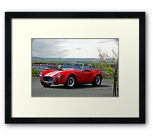 1965 Shelby Cobra 'Above it All' Framed Print