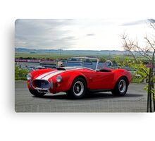 1965 Shelby Cobra 'Above it All' Canvas Print