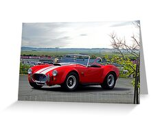 1965 Shelby Cobra 'Above it All' Greeting Card